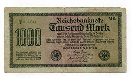 Repubblica Di Weimar - Germania - 15 Settembre 1922 - Banconota Da 1000 Marchi - Usata - (FDC12194) - [ 3] 1918-1933 : Repubblica  Di Weimar