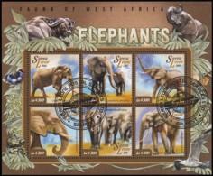 SIERRA LEONE - SW6100 Fauna Of West Africa / Used Sheet Of 6 (ss385) - Sierra Leone (1961-...)