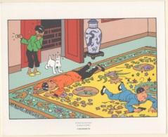 """Hergé. Ex-Libris TINTIN. Planche N° 53 Strip 2 (2).  Extrait De """"Le Lotus Bleu"""". Très Beau - Tintin"""