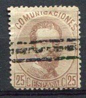 1872 - Yv. N° 123   ANNULE 25c  Brun  Amédée Ier   Cote  3 Euro  BE R  2 Scans - 1872-73 Kingdom: Amadeo I