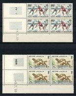 SPM MIQUELON N° 360/361 ** Neuf MNH Bloc De 4 Coins Datés Superbes C 47,50 € Animaux Animals Sports Visons Hockey - Unused Stamps