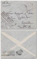 DJIBOUTI - Lettre Du Blocus Du 23/12/1941 Acheminée Par Les Services Aériens (Cachet) Arrivée à Marseille 26/12/41 - French Somali Coast (1894-1967)