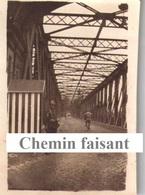 """Photographie Originale D'un Militaire Légendée """"6 Juin 1919 Pont De Kele (KEHL)sentinelle Tirailleur""""- Scans Recto-verso - Guerre, Militaire"""