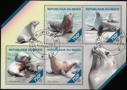 NIGER - SW2842 Marine Life / Used Sheet Of 4 (ss386) - Niger (1960-...)