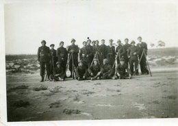 PHoto Soldats Au Tir à Chott El Bahira Tunisie En Cotobre 1941 à 8 Kms D'El Aouina Tunis - Guerre, Militaire