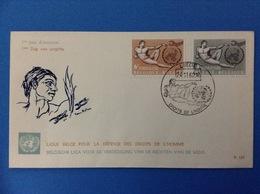 1962 BELGIO BELGIE BELGIQUE Busta Primo Giorno FDC - DIRITTI DELL'UOMO MICHELANGELO BUONARROTI - FDC