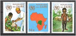 Congo / Zaire 1971  25 Years Of The United Nations Children's Fund (UNICEF).   Mi 447-449 MNH(**) - Zaïre