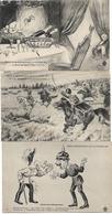 MILITARIA SERIE HUMORISTIQUE GUERRE 1914 6 CPA JARRY - Humorísticas