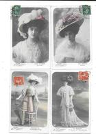 10911 - LOT De 4 CPA Les Reines De La Mode,DORVAL,SCHERER,BARLETTE - Artistes