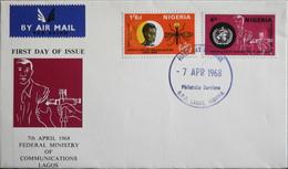 Enveloppe 1er Jour NIGERIA - Organisation Mondiale De La Santé - Daté Lagos 7 Avril 1968 - TBE - Nigeria (1961-...)