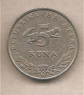 Croazia - Moneta Circolata Da 5 Kune Ursus Arctos - 1998 - Croazia