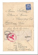 ENVELOPPE Oblitération Allemande  GUERRE 40 - OBERCOMMANDO DER WEHREMARCHT - Marcophilie (Lettres)