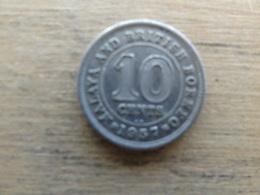 Malaya  Britich  Borneo  10  Cents 1957 Kn  Km 2 - Malaysie