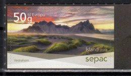 ICELAND, 2018, MNH, SEPAC, VIEWS, MOUNTAINS, 1v - Geology