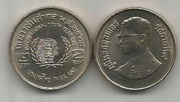 Thailand 2 Baht 1985 (2528) Y#176 International Year Of Youth - Thaïlande