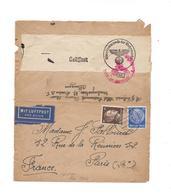 OBLITERATION  ALLEMAGNE SUR ENVELOPPE OBERCOMMANDO DER WEHRMACHT GUERRE 40 - MIT LUFTPOST - Marcophilie (Lettres)