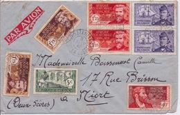 AEF - LETTRE PAR AVION BRAZZAVILLE POUR NIORT 1940 - A.E.F. (1936-1958)