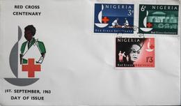 Enveloppe 1er Jour NIGERIA - Centenaire De La Croix-Rouge - Daté Lagos 1er Septembre 1963 - TBE - Nigeria (1961-...)