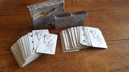 PUBLICITE ESSENCE ESSO LA GOUTTE D HUILE 2 JEUX DE 54 CARTES POUR BRIDGE CANASTA - 54 Cards