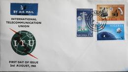 Enveloppe 1er Jour NIGERIA - Union Internationale Des Télécommunications - Daté Lagos 2 Août 1965 - TBE - Nigeria (1961-...)