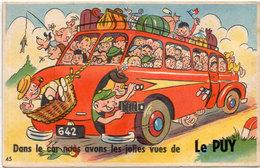 """Dépliant 10 Vues - Dans Le Car Nous Avons Les Jolies Vues De """"LE PUY""""....    .. (1459 ASO) - A Systèmes"""