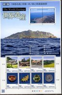 JAPAN, 2018, MNH, WORLD HERITAGE, CULTLURAL ARTIFACTS, TEMPLES, MOUNTAINS, SHEETLET - Cultures