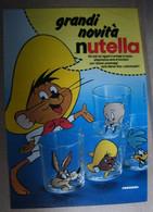 DB125 - PUBBLICITA' FERRERO NUTELLA, BICCHIERI, LOONEY TUNES - Nutella