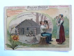 Chromo Chocolat POULAIN - Les Habitations Primitives - Cabane De Bûcherons (France) - Poulain