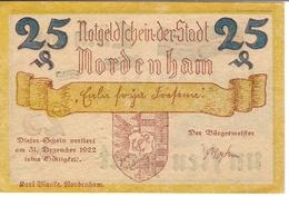 Deutschland Notgeld 25 Pfennig Mehl982.1 NORDENHAM /79M/ - [11] Emissions Locales