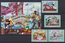 2171  WALT DISNEY  The GAMBIA  ( Life On The Mississippi )   Mark Twain  /  International Youth Year 1985 - Disney
