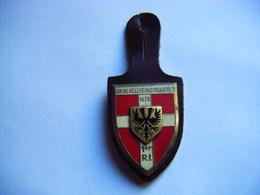 PUCELLE ANCIEN INSIGNE - 1er Régiment D'infanterie -on Ne Relève Pas Picardie - Drago G 2118 - Army & War