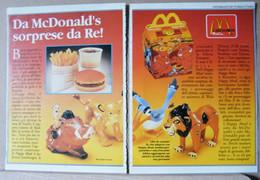 MONDOSORPRESA, PUBBLICITA' (PB86) MAC DONALDS  RE LEONE - Kinder & Diddl
