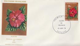 Enveloppe  FDC   1er  Jour   POLYNESIE   Hibiscus    1978 - FDC