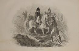 Napoléon à Waterloo. 1839 - Prenten & Gravure