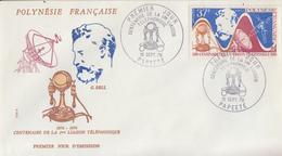 Enveloppe  FDC   1er  Jour   POLYNESIE   Graham  BELL   Centenaire  1ére  Liaison  Téléphonique  1976 - FDC
