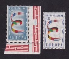 1957 Italia Repubblica EUROPA CEPT EUROPE  Serie Di 2v. MNH** - Europa-CEPT