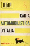 Agip CARTA AUTOMOBILISTICA D'ITALIA, Scala 1:1.250.000, 1963  - OTTIMA P53 - Carte Stradali