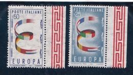 1957 Italia Repubblica EUROPA CEPT EUROPE  Serie Di 2v. MNH** SOGGETTI DIVERSI - Europa-CEPT