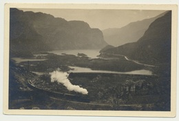 AK  Eisenbahn Dampflok Lago Di Loppio Trentino 1915 - Trains