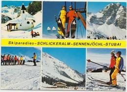 Skiparadies - SCHLICKERLAM - SENNENJOCHL - STUBAI, Austria, 1981 Used Postcard [21934] - Austria