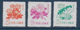 CHINA - 1958 -  YVERT N° 1205/1207 (*) (EMIS SANS GOMME) - COTE YVERT = 22 EUR - 1949 - ... Volksrepublik