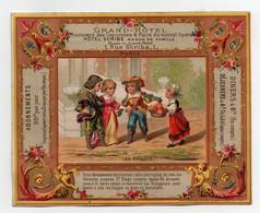 Grande CHROMO Grand-Hôtel Bouillon-Ryvoire Dangivillé Menu Du 5 Décembre 1877 Les Fruits Enfants - Unclassified