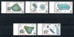 KIRIBATI 1986 N° 154/158 ** Neufs MNH Superbes C 20 € Cartes Des îles Manra Birni Mackean Orona Flint Caroline - Kiribati (1979-...)