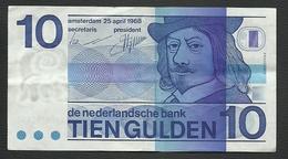 UN BILLET DE BANQUE DES PAYS BAS DE 10 GULDEN DU 25 AVRIL 1968 - [2] 1815-… : Royaume Des Pays-Bas