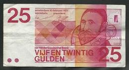 UN BILLET DE BANQUE DES PAYS BAS DE 25 GULDEN DU 10 FEVRIER 1971 - [2] 1815-… : Kingdom Of The Netherlands