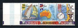 KIRIBATI 1986 N° 163/165 ** Neufs MNH Superbes C 6 € Bateaux Voiliers Coupe Voile America Régates Carte Australie Sailbo - Kiribati (1979-...)