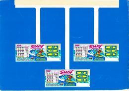 FDJ FRANÇAISE DES JEUX PUBLICITÉ PLV 1 MOBILE DE CAISSE 20X23,5cm ( 3 SURF) GRATTAGE JEUX - NOTRE SITE Serbon - Publicités