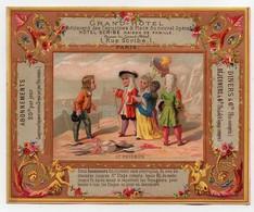 Grande CHROMO 19ème Grand-Hôtel Bouillon-Ryvoire Dangivillé Menu Du 29 Décembre 1877 Le Poisson Enfants - Unclassified
