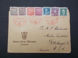 COURRIER DE 1936 POUR LES U.S.A - Tchécoslovaquie