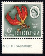 Rhodesia - 1966 Mardon 6d Lily (4th Printing) (**) # SG 401 , Mi 50 - Rhodesia (1964-1980)